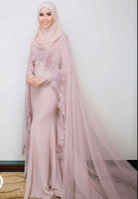10 Pola Gaun Pengantin Muslimah Simple Tapi Elegan Petuahkuno