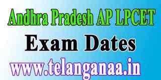 Andhra Pradesh LPCET APLPCET  Exam Dates