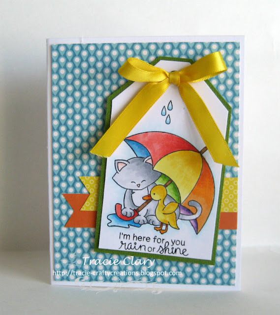 I'm here for you rain or shine by Tracie features Newton's Rainy Day by Newton's Nook Designs; #newtonsnook