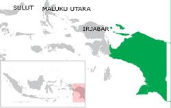 Peta lokasi Provinsi Papua