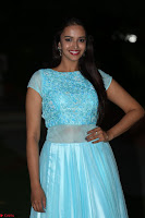 Pujita Ponnada in transparent sky blue dress at Darshakudu pre release ~  Exclusive Celebrities Galleries 132.JPG