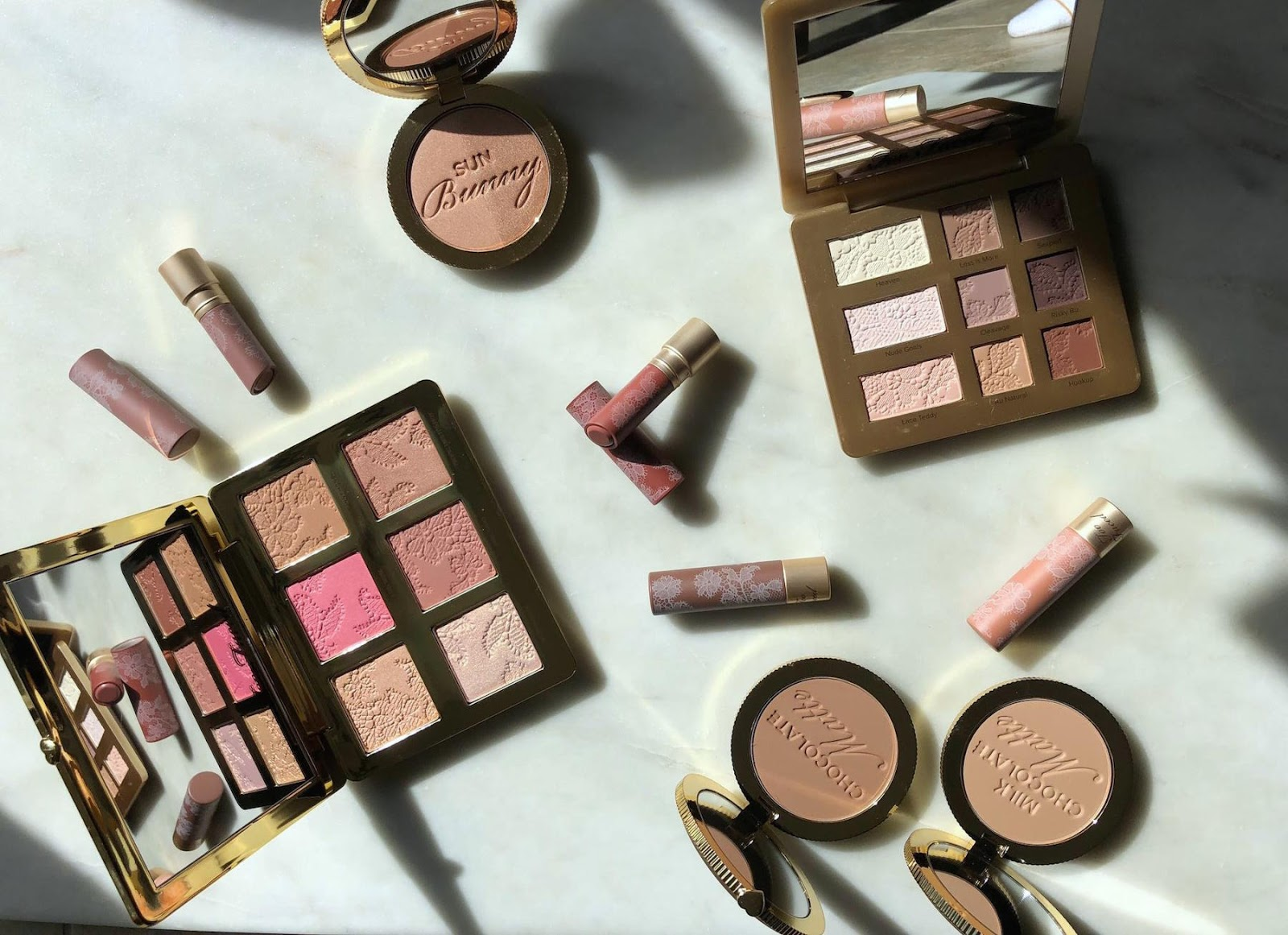 Too Faced Natural Eyes, Natural Face and Natural Nudes Lipstick collections: A quick review