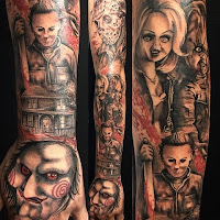 tatuaje para halloween en el brazo