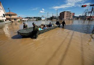 Ιαπωνία πλημμύρες και τις σφοδρές βροχοπτώσεις