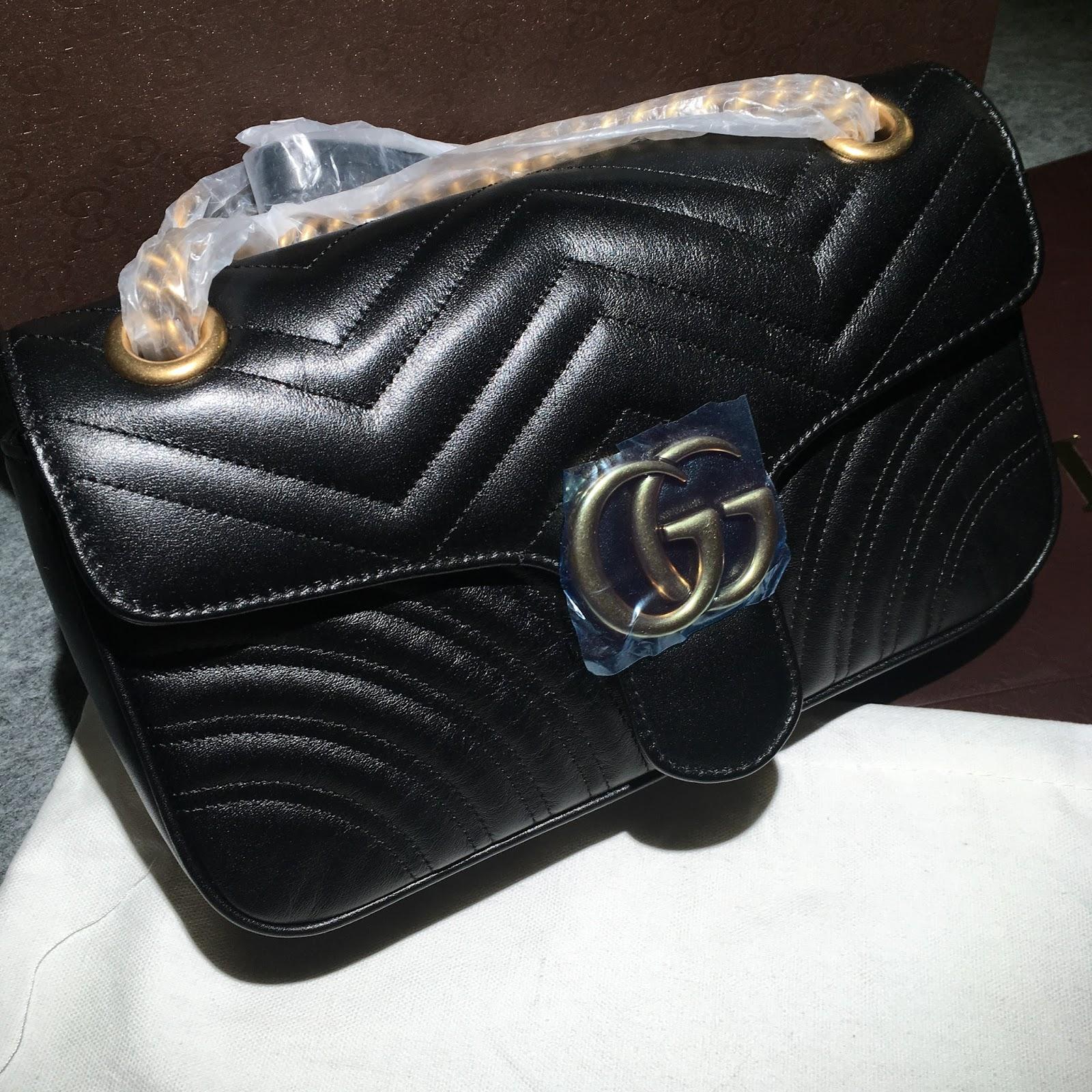 afa58bd2781 Gucci marmont bag black in cowskin best original quality pre shipment photos