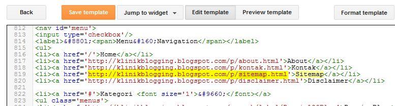 edit html sitemap