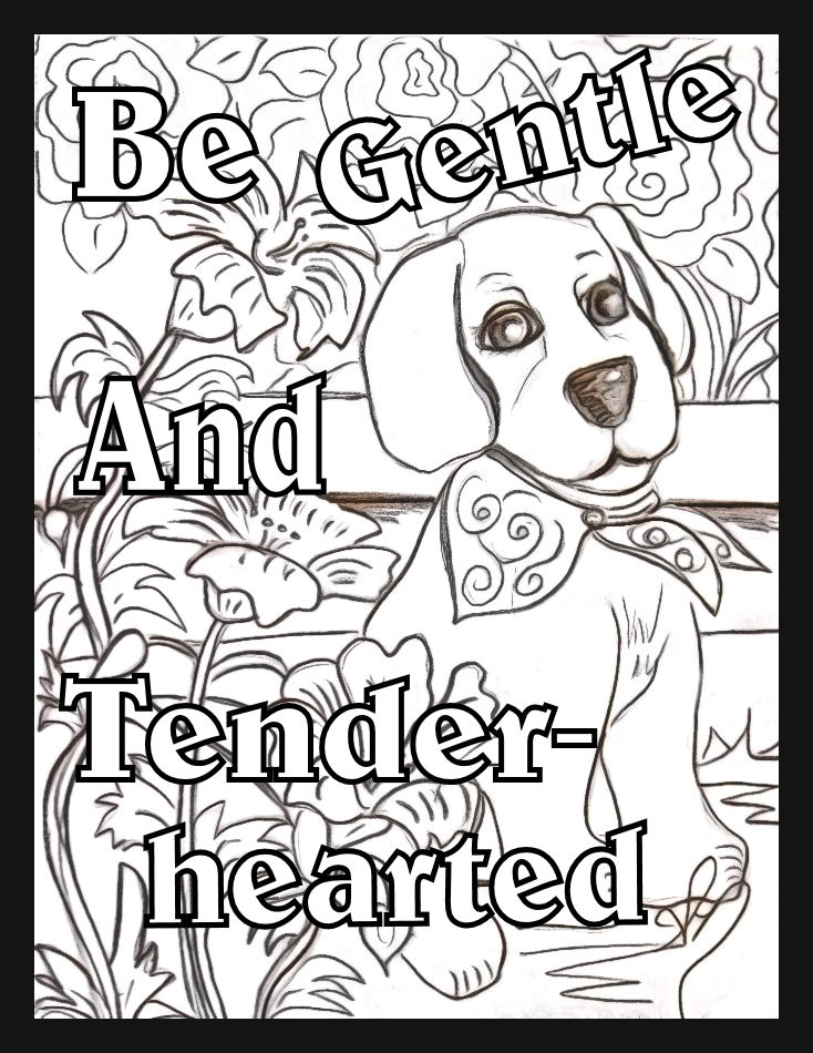 Children\'s Gems In My Treasure Box: Be Gentle Coloring Page