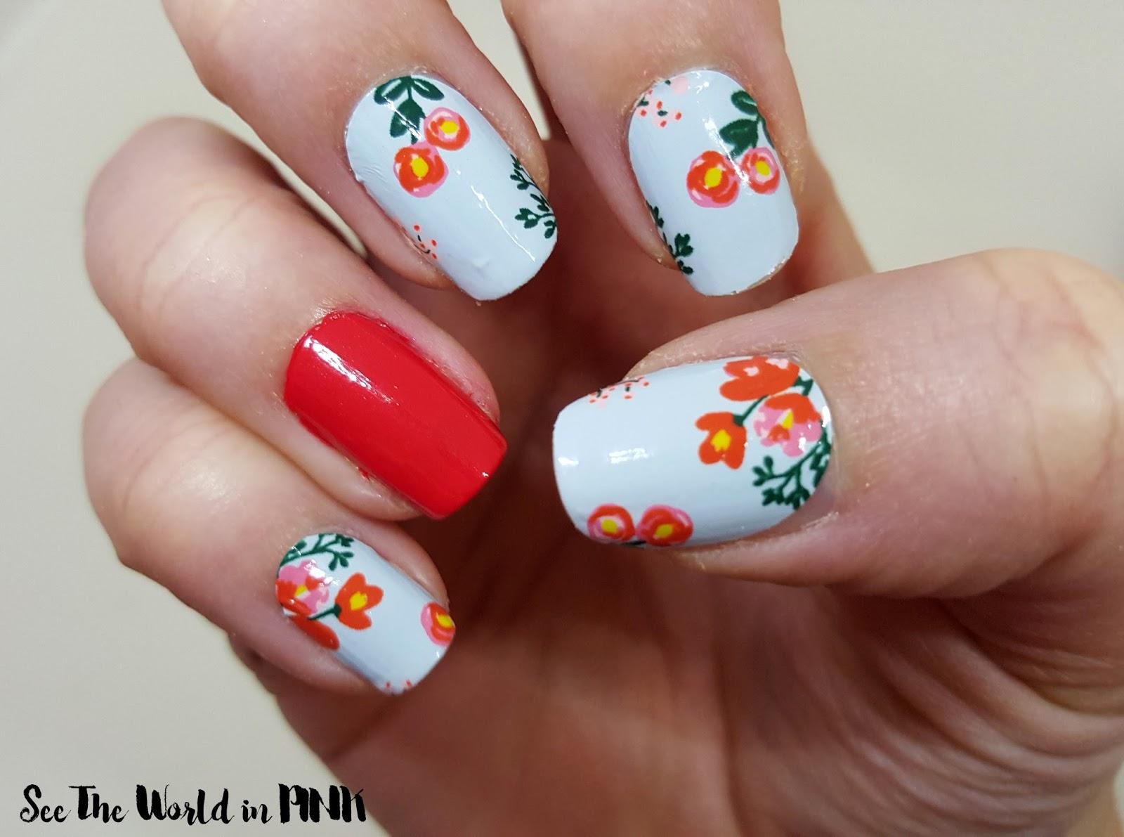 "Scratch ""Bloom"" nail wraps go scratch it"