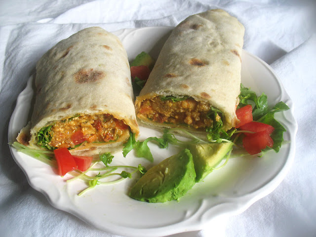 Chickpea Quinoa Vegetable Wraps