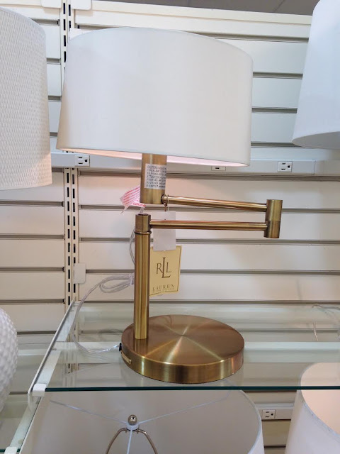 {Let's Go Shopping} HomeGoods Gold Lamp