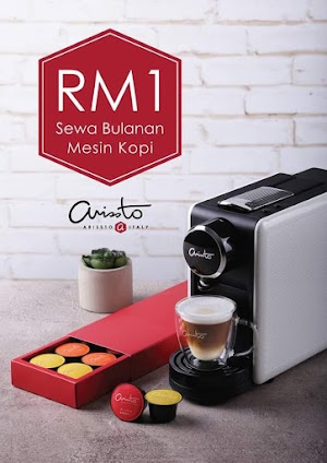 Arissto Coffee Machine - Now RM1 Per Month - No Binding Contract