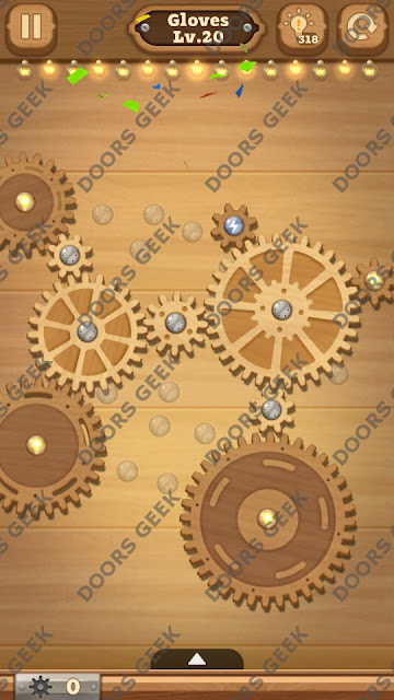 Fix it: Gear Puzzle [Gloves] Level 20 Solution, Cheats, Walkthrough for Android, iPhone, iPad and iPod