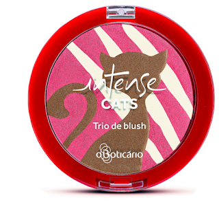 Trio de blush Intense Cats Tudo Sobre Tudo