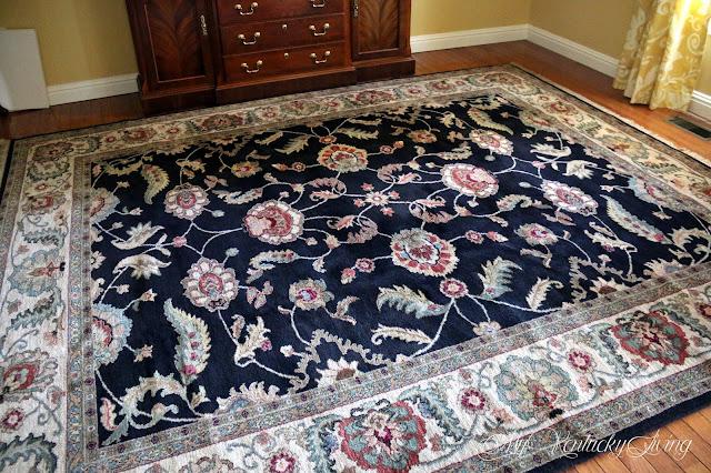 black wool oriental rug