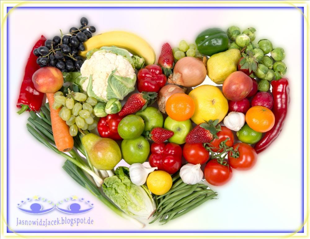 Żywność Ekologiczna Zdrowe Jedzenie - Zmieszane Sercem Warzywa Owoce