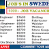 URGENT RECRUITMENT IN SWEDEN | APPLY NOW