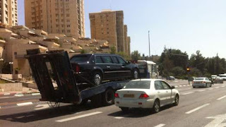 obama limousine stuck in israel