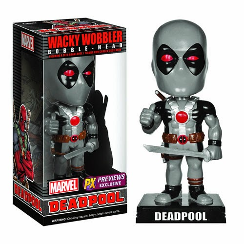 Previews Exclusive X-Force Deadpool Wacky Wobbler Marvel Bobble Head by Funko