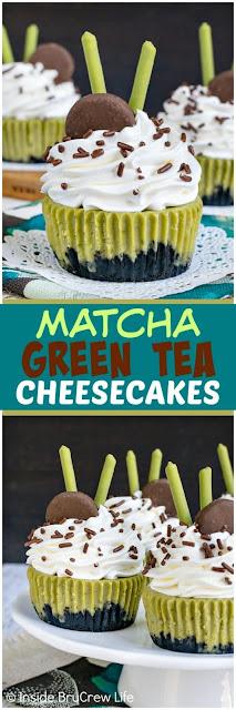 MATCHA GREEN TEA CHEESECAKES