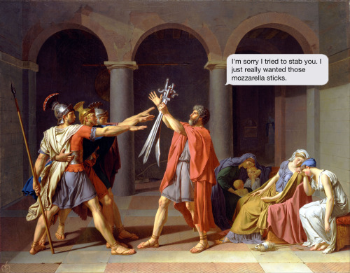 If paintings could text blog on tumblr