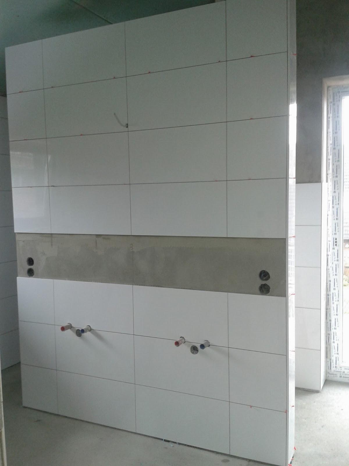 Unser Abenteuer - Hausbau 2013/2014: T-Wand im Badezimmer