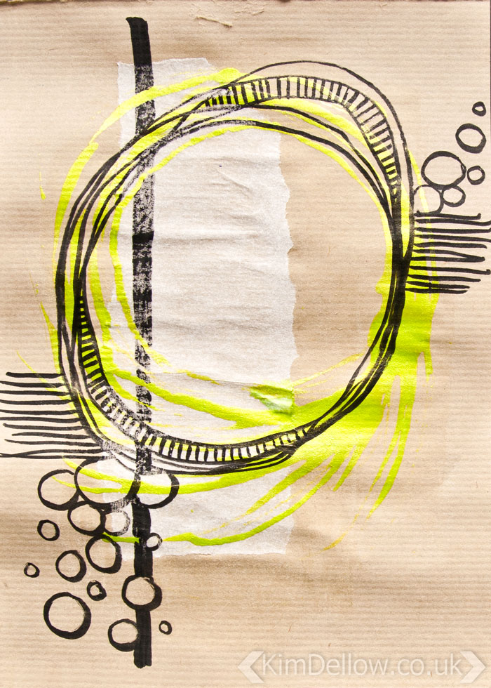 Kraft Paper art journal pages, Abstract 3 by Kim Dellow