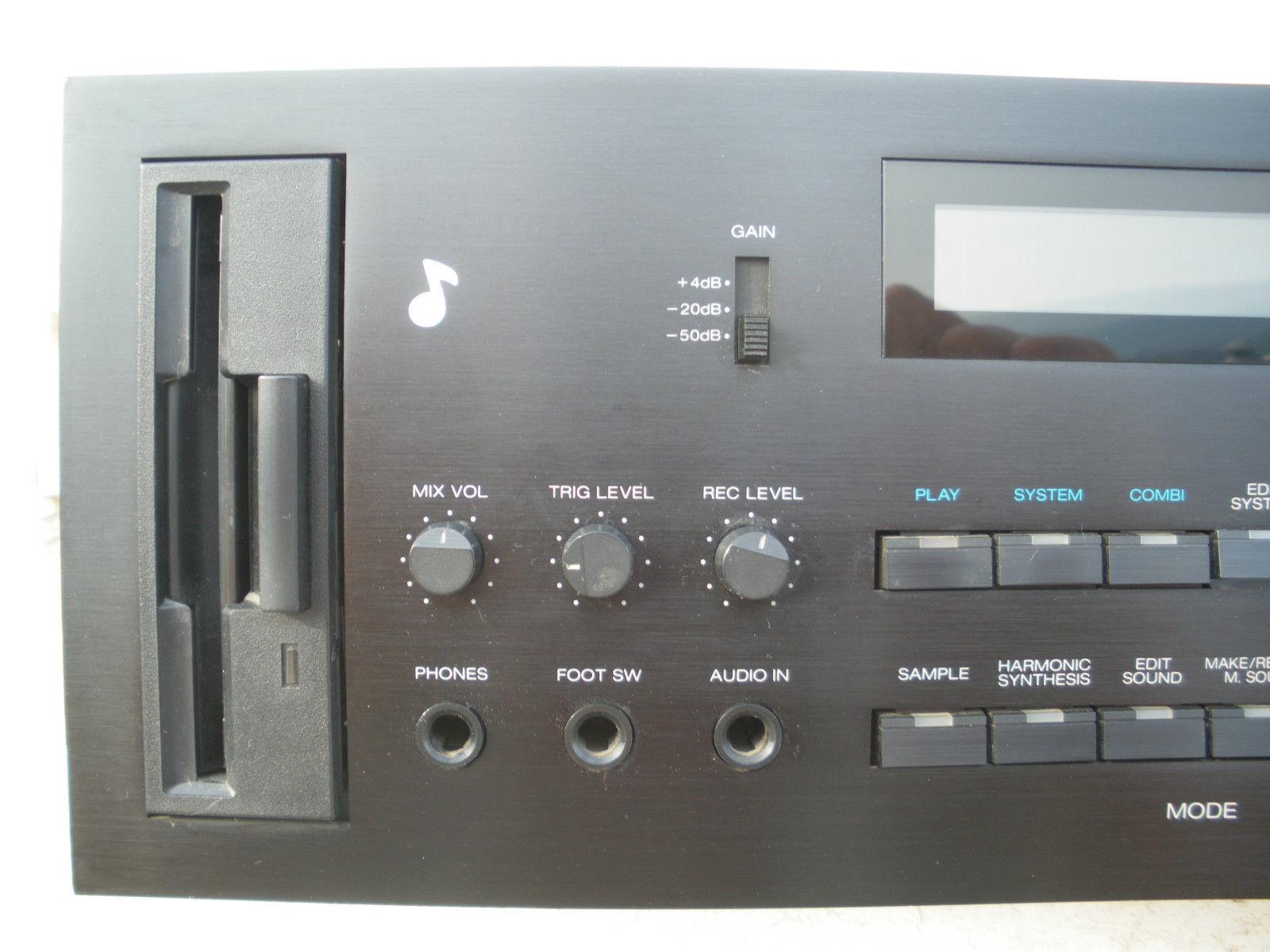 Matrixsynth Korg Dsm 1 Rare Dss 1 Rack Version Expanded 12 Bit Sampler Synthesizer Sn 001702