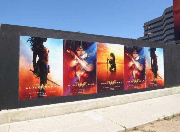 Wonder Woman movie street posters