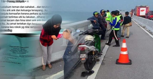 """""""Lebih Baik Aku Mati Daripada Dizalimi Umno! Tolong Jangan Percaya Umno Sebab. . ."""" Status FB Terakhir Dari Seorang Lelaki Sebelum Terjun Dari Jambatan Pulau Pinang - Tertekan Dengan Kos Sara Hidup Di Malaysia"""