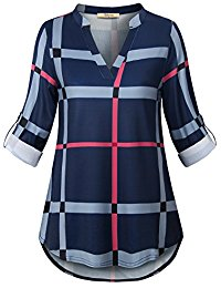Buy Women's Casual V Neck Top Shirts With Blouse From Amazon