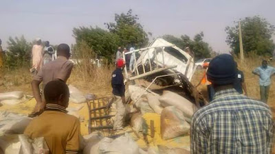Ghastly Motor Accident Leaves Five Dead, Others Injured Along Sokoto-Kebbi Road.