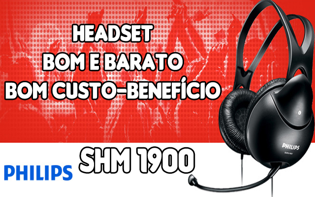 headset philips shm 1900