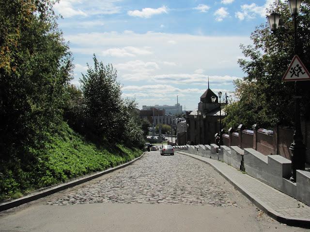 Томск. Булыжная мостовая к острогу на крепостной горе
