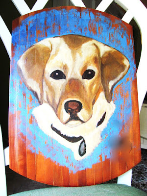 yellow lab pet portrait