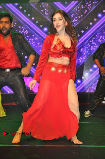 Telugu Actress Angela Krislinzki Spicy Dance Performance in Red Dress at Rogue Audio Launch 13 March 2017  0006.jpg