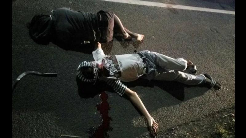 Irvan dan begal terjatuh dari JPO di Bekasi