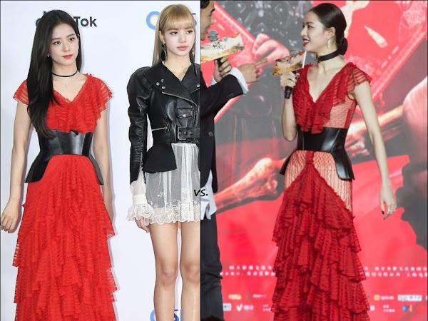 👗BlackPink's Jisoo vs Elane Zhong Chuxi