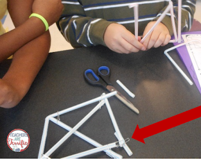 STEM Challenge: Look how these boys made their paper clips and straws work. They clipped the straws together and also threaded the straws through the ends of the paper clips!