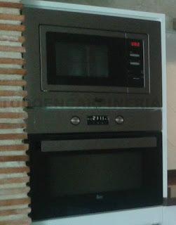 horno y microondas de integración.