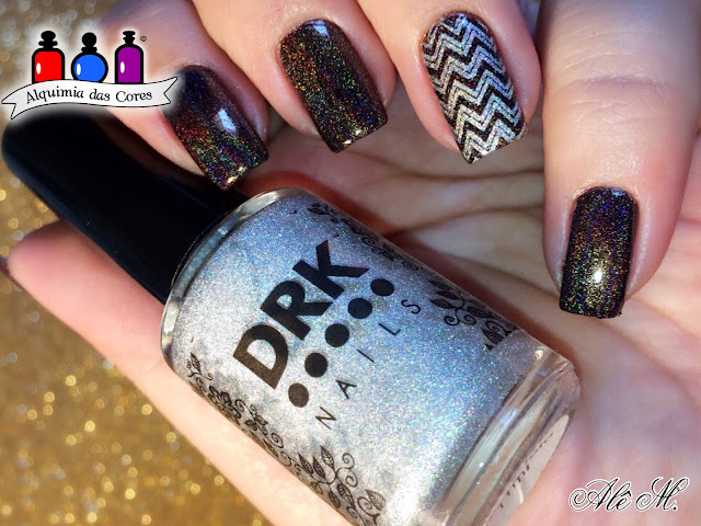 Cupcake Polish, Coffin Break, Dark Brown, DRK, DRK XL Designer 1, Prata Holo, Carimbado, Alê M.