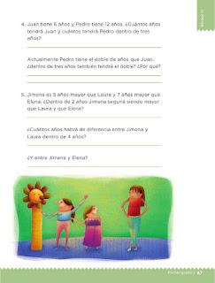 Apoyo Primaria Desafíos Matemáticos 1er Grado Bloque 4 Lección 46 Quito y pongo