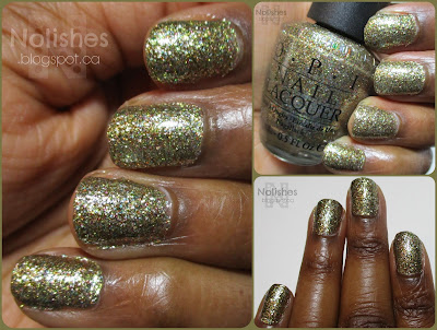 Gold glitter polish from Holiday 2010 'Burlesque Collection'