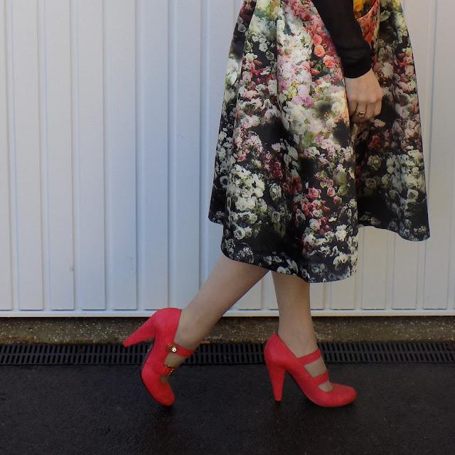 Jolie Moi floral midi skirt