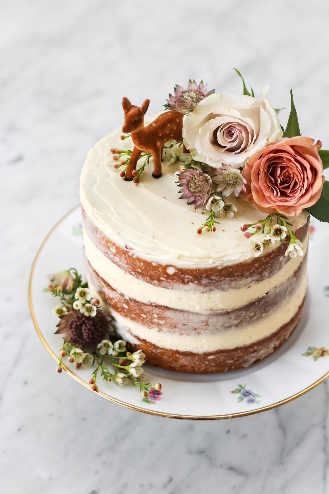 Jasmine Cake With Honey Swiss Meringue Buttercream