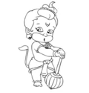How To Draw Bal Hanuman Cartoon Drawing Step By Step