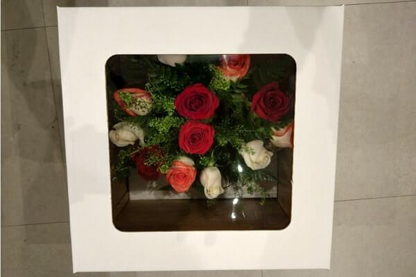 cajas para flores fondo y tapa