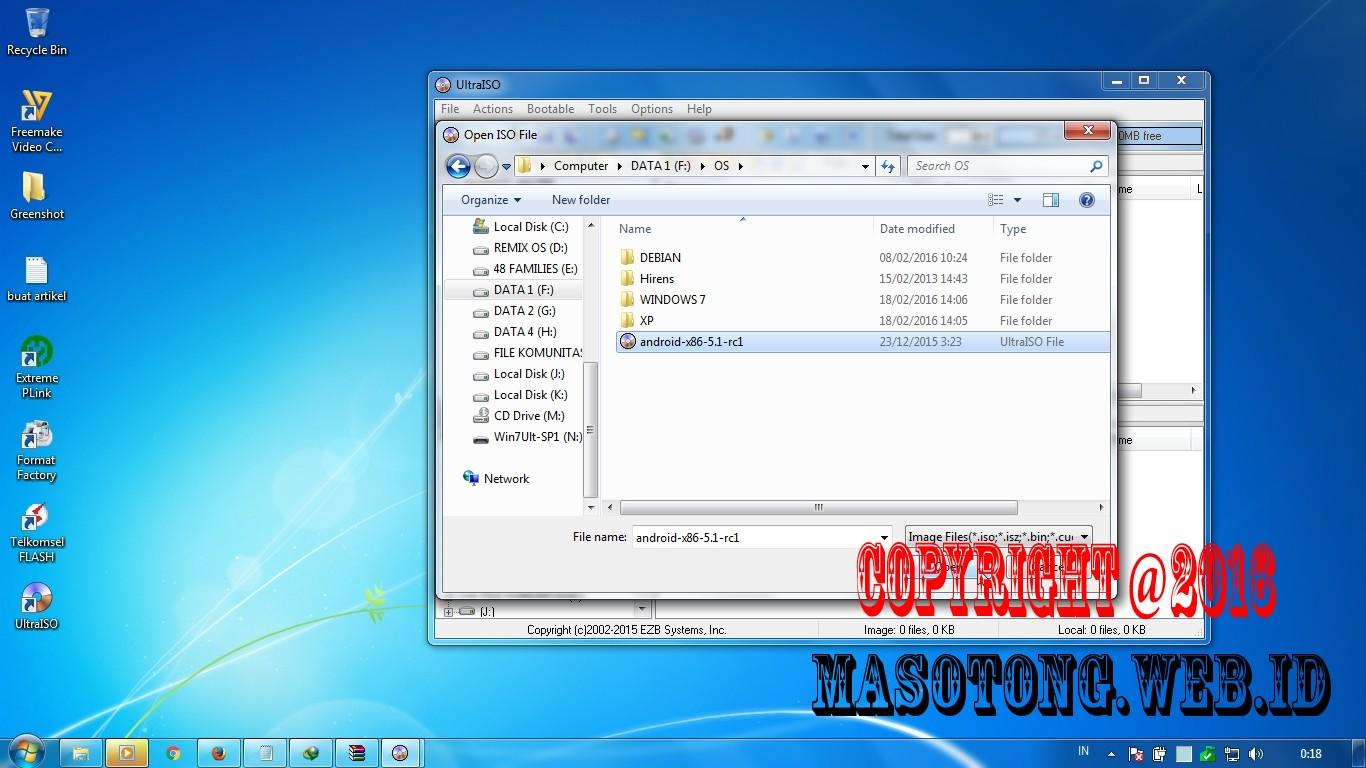 Cara Mudah buat Bootable USB Flashdisk dengan UltraISO