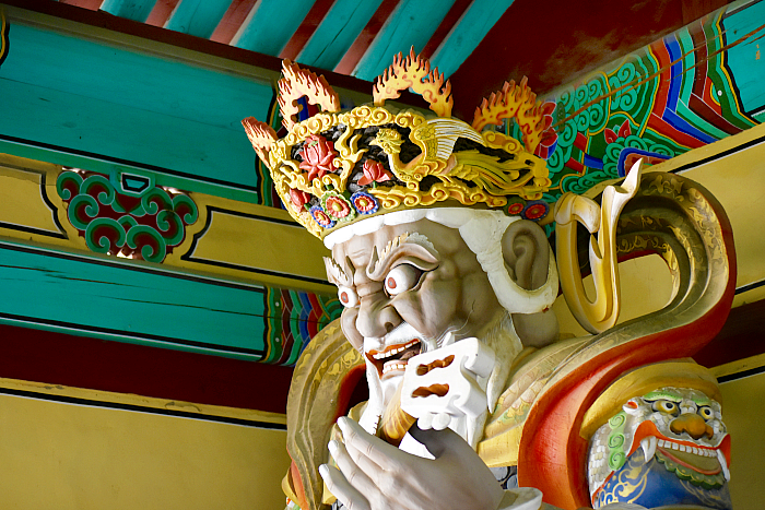 temple guardian in south korea