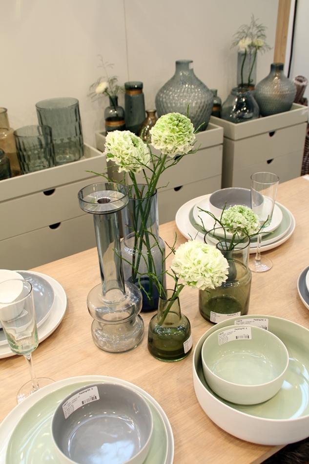 Messeeindrücke von der Ambiente 2016 bei Hübsch Interior, Tablesetting, gedeckter Tisch