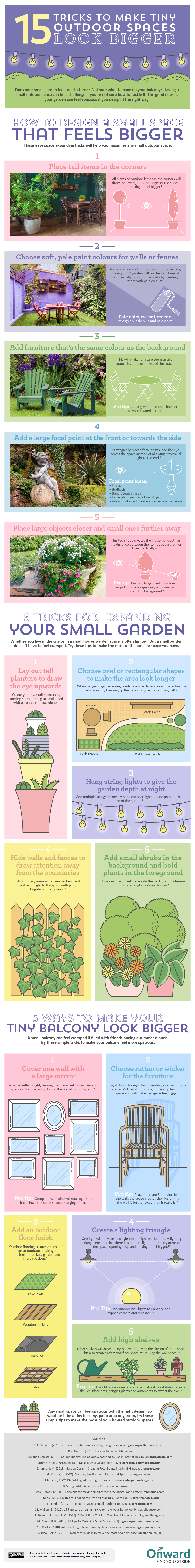 15 Tricks to Make Tiny Outdoor Spaces Look Bigger